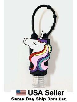Silicone Bottle Holder Carrying Case Mini 1oz Hand Sanitation Refill Unicorn
