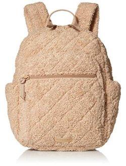 Women's Teddy Fleece Sherpa Small Backpack Bookbag