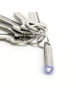 KeySmart Nano Torch - World's Smallest and Brightest Flashlight for Your Keychain LED Light