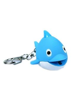 ODETOJOY Dolphin Keychain with Flashlight LED Light with Voice Sound Cute 3D Animal Cartoon Keyrings for Kids