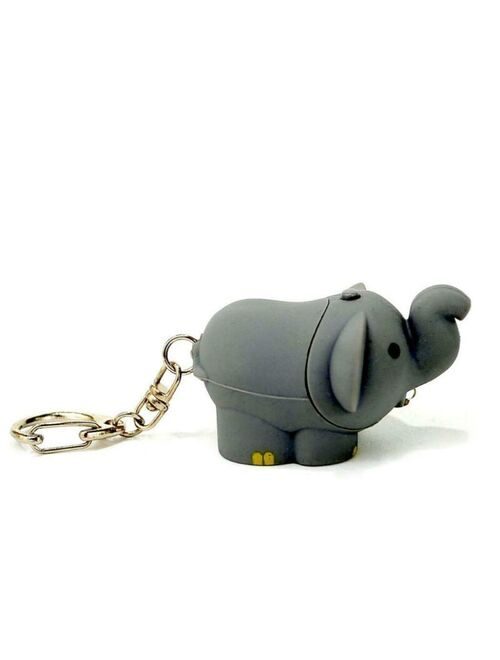 LED ELEPHANT KEYCHAIN with Light Sound Cute Circus Animal Noise Key Chain Ring