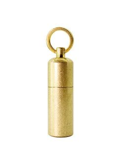 PPFISH Mini Brass Lighter - EDC Peanut Keychain With Lighter - Waterproof Fire Starter Especially for Survival and Emergency Use