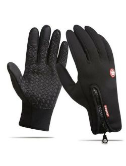 Mens Gloves Winter Touch Screen Windproof Waterproof Outdoor Driving Antislip Gloves, Size S-xl