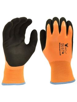 G & F Waterproof, Double Thermal shell, double Latex coated, Winter Gloves, Sandy finished, size: XL
