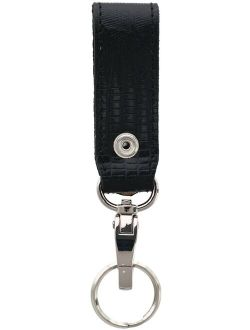 3 D Belt Company Leather Lizard Print Fob with Carabiner Key Ring