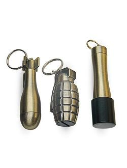 CATNON Permanent Match, Flint Fire Starter, Set of 3 Fire Starter Permanent Match, Waterproof Emergency Survival Camping Keychain With Lighter for Outdoor(No Oil)