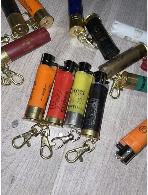 Mens / Womens Empty Cartridge Key Ring Clipper Keychain With Lighter