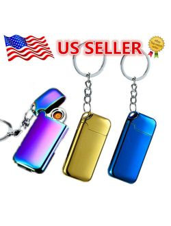 Electric Coil Lighter Usb Rechargeable with Keychain With Lighter Windproof