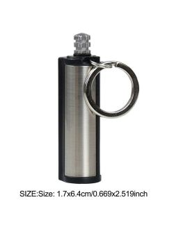 Outdoor Waterproof Portable Lighter Bottle Keychain With Lighter Containing Cotton Core