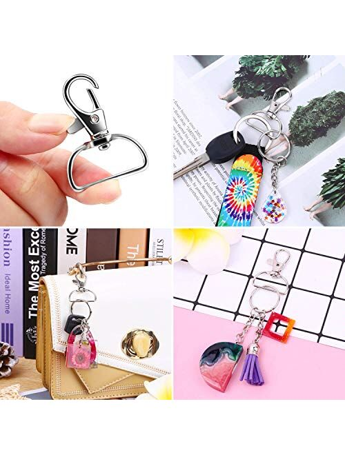 Keychain  Hook, Anezus D Ring Clip Keychain Lanyard Swivel Snap Hooks Clip on Key Ring for Crafts and Purse Hardware (3/4 inch)