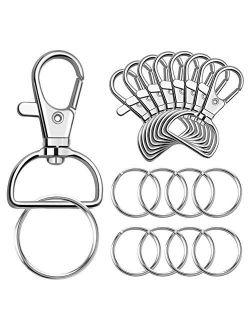 Paxcoo 100 Pcs Keychain Hooks with Key Rings (Large Size)