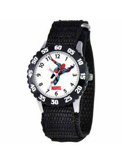 Spider-man Boys' Stainless Steel Watch, Black Strap
