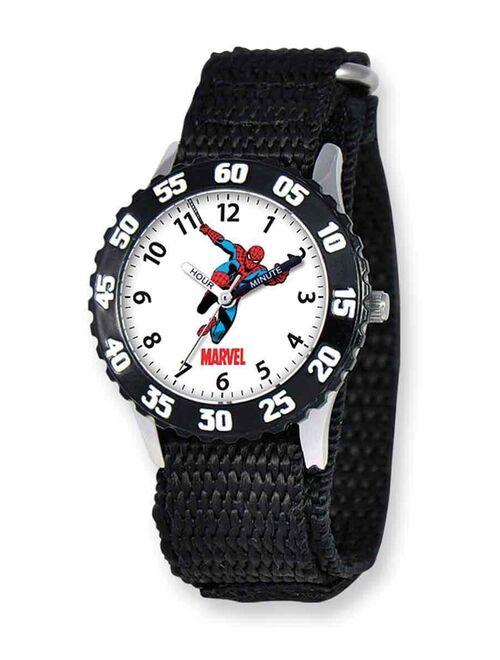 Marvel Spider-Man Boys' Stainless Steel Watch, Black Strap
