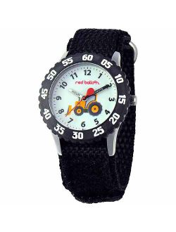 Construction Site Boys' Stainless Steel Watch, Black Strap