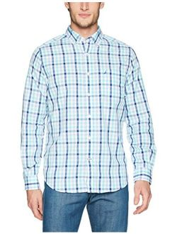 Men's Wrinkle Resistant Long Sleeve Button Front Shirt