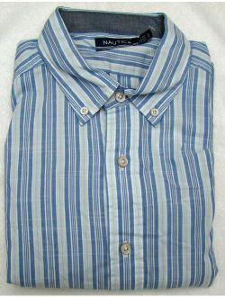 Men's Marina Stripe Long Sleeve Shirt - Size Large