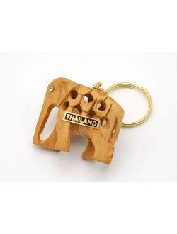 Thai Handicraft Elephant Keychain