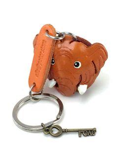 3D Animal Style Key Ring Elephant Keychain Leather Bag Belt Holder Cute Fashion