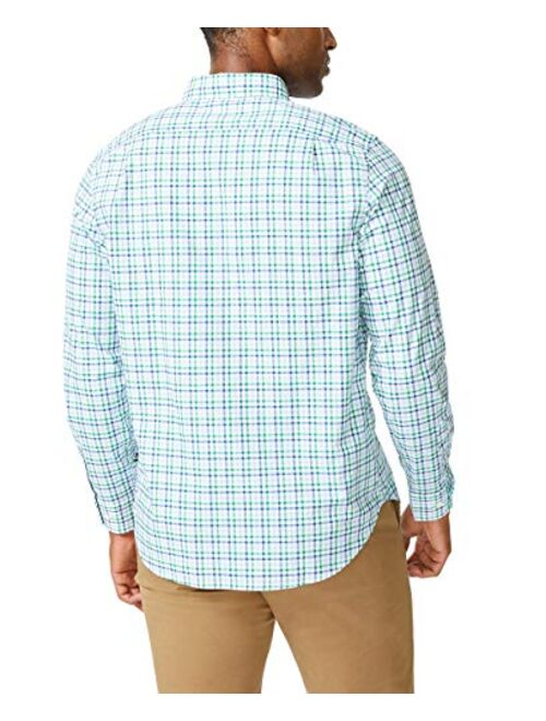 Nautica Men's Classic Fit Stretch Solid Long Sleeve Button Down Shirt