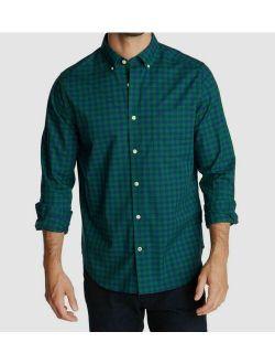 5 Nautica Men's Green Blue Check Long-sleeve Button Dress Shirt Size 2xl