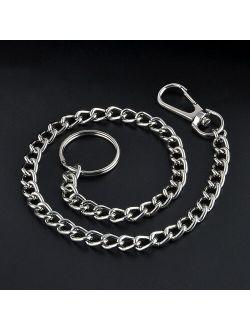 Hip Hop Metal Keychain Chain Key Wallet Belt Ring Clip Biker Jean Trucker Waist Chain