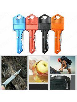 Portable Camping Outdoor Survival Pocket Folding Key Shape Mini Knife Keychain