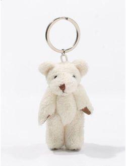 Cartoon Plush Teddy Bear Keychain