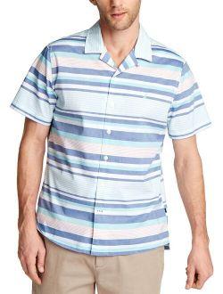 Mens Striped Button-down Casual Shirt