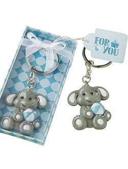 Adorable Baby Blue Design Elephant Keychain
