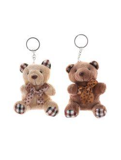10cm Plush Doll Fashion Phone Bag Teddy Bear KeyChain Pendant