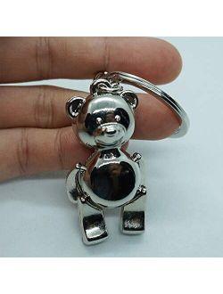 Creative DIY Manual Cartoon Teddy Bear Keychain