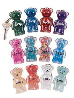 Geddes Jelly Teddy Bears Keychain Assortment - Set of 24