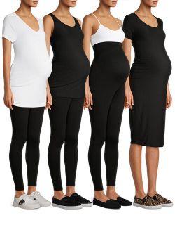 Womens Maternity Basic's Box Bundle, 4-piece