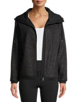 Women's Active Polar Fleece Zip-up Sweater With Funnel Neck