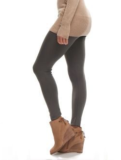 LMB Lush Moda Full Length Footless Tights Leggings for Women, Variety of Colors, One Size fits Most (XS -XL) - Charcoal Grey