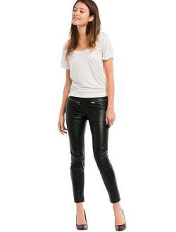 Ellos Women's Plus Size Skinny Leather Sexy Pants Pants