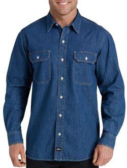 Mens And Big Mens Heavyweight Long Sleeve Denim Shirt