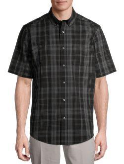Men's Plaid Poplin Short Sleeve Shirt