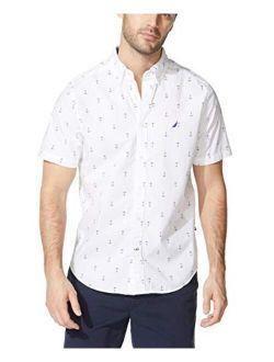 Men's Anchor Print Poplin Shirt