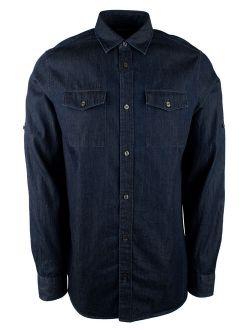 Men's Long Sleeve Denim Classic Fit Shirt