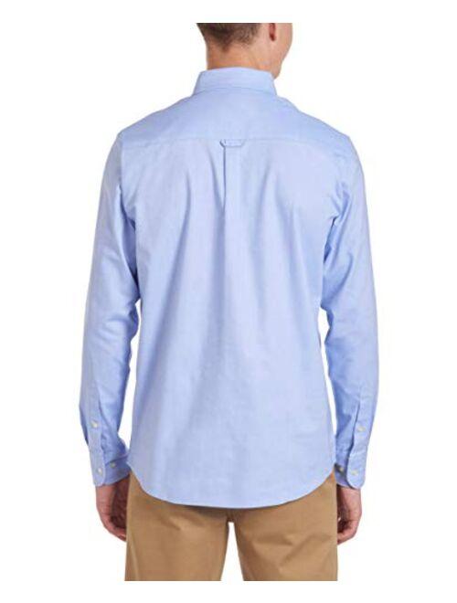 Nautica Young Men's Uniform Long Sleeve Stretch Oxford Shirt
