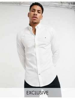 Skinny Fit Shirt In White Exclusive To Asos