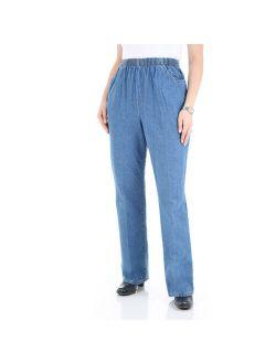 Chic Women's Comfort Collection Elastic-Waist Pants