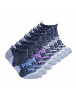 Ladies 8-pair No Show Socks Black