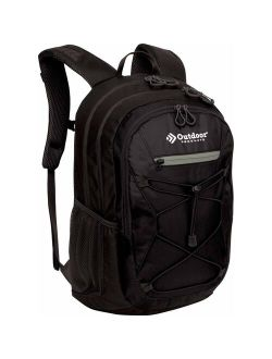 Outdoor Products Odyssey 29 Ltr Backpack Multi-Use Daypack, Gray Solid Print, Black