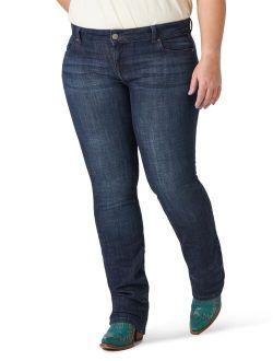 Women's Plus Size Essential Mid Rise Straight Leg Jean