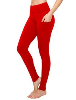 Always High Waist Compression Leggings - Premium Buttery Soft Yoga Workout Stretch Solid Pants