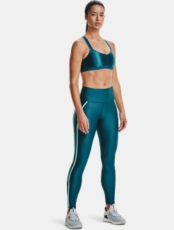 Women's HeatGear Armour No-Slip Waistband Shine Mesh Full-Length Leggings