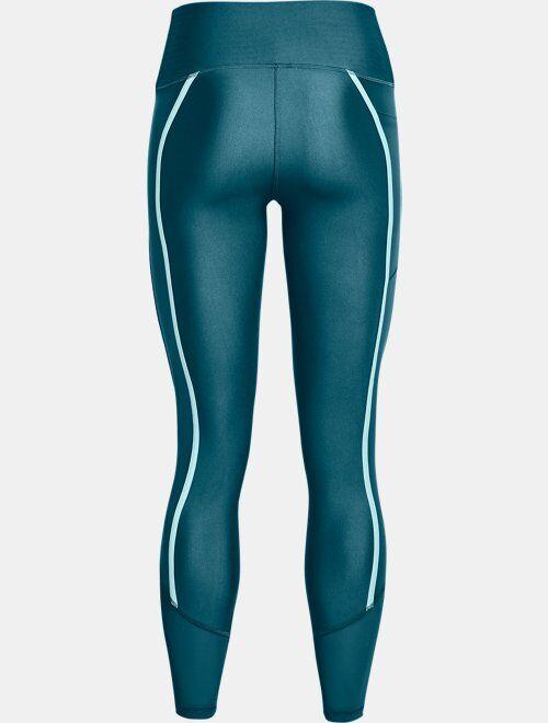 Under Armour Women's HeatGear Armour No-Slip Waistband Shine Mesh Full-Length Leggings