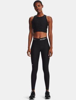 Women's HeatGear Armour Wordmark Waistband Full-Length Leggings